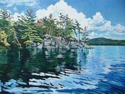 """Friendly Island in the Sun"" , Algonquin Provincial Park"