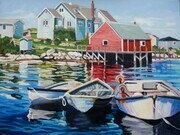 """Resting"", Peggy's Cove."